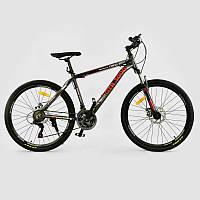 """Велосипед Спортивный CORSO GTR-3000 26""""дюймов JYT 003 - 9051 GREEN-RED (1) рама алюминиевая, 21 скорость, собран на 75%"""