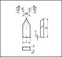 Пластины для чистовых и резьбовых резцов (ГОСТ 25398-90), фото 1
