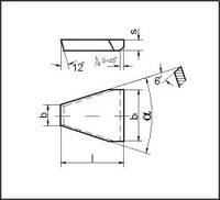 Пластины для резцов при прорезке канавок в шкивах под клиновые ремни (ГОСТ 25412-90)