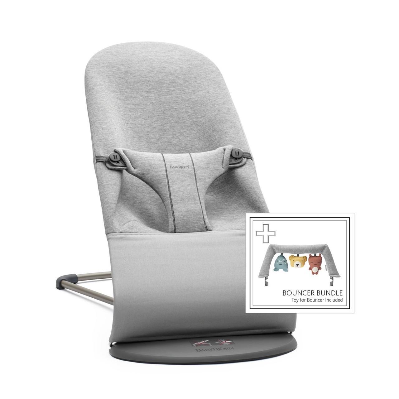 BABYBJORN - Кресло-шезлонг BLISS 3D Jersey + игрушка Soft Friends