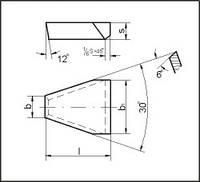 Пластины для резцов при нарезании трапецеидальной резьбы (ГОСТ 25422-90)