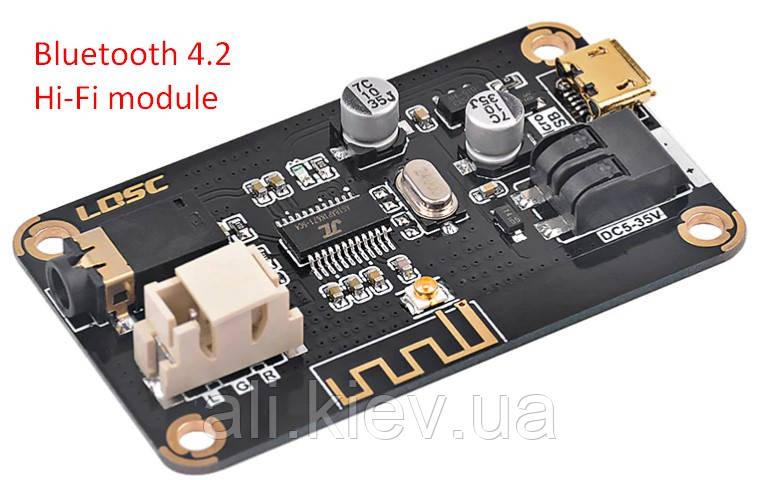 Bluetooth 4.2 Высококачественный модуль декодера аудио. DC 5-35V AUX.