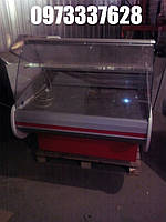 Мини холодильная витрина б у Росс 1,25 м, фото 1