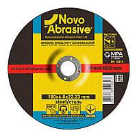 Обдирочный (зачистной) диск круг для болгарки по металлу 180х6х22,23 т27 Novoabrasive