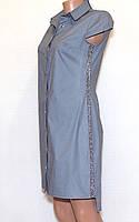 Молодежная рубашка платье  (42-48)