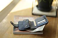 Бумажник натуральная кожа ручная работа Boorbon 103 небольшой кошелек портмоне на кнопке подарок для денег