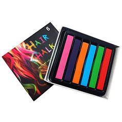 Мелки для волос Hair Chalk 8357-6-1109, 6 шт