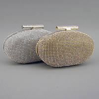 Вечерняя сумка-клатч rh-1338 из камней Rose Heart на цепочке маленькая через плечо, фото 1