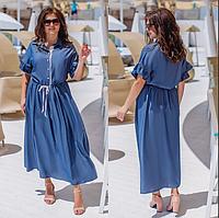 Джинсовое платье летнее, с 48-58 размер, фото 1