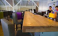 Столешница для кафе из массива натурального дерева 40 мм