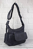 Мягкая, вместительная женская сумка Paolo Bags 238 темно-синяя, Италия, фото 1