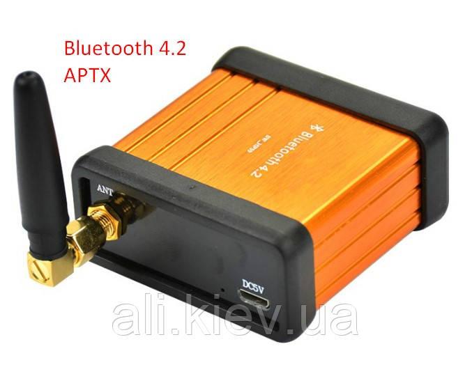 Bluetooth 4.2 CSR64215 APTX Высококачественный модуль декодера аудио. DC 5V AUX. корпус с внешней антенной.