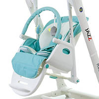 Детский стульчик для кормления+ укачивающий центр Mioobaby-Baby Jazz Голубой