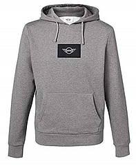 Оригинальная мужская толстовка с капюшоном MINI Logo Patch Sweatshirt Men's, Grey (80142460806)