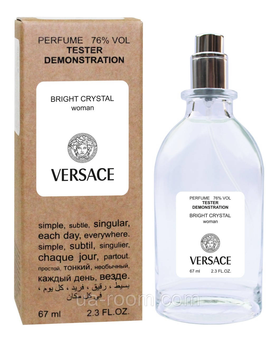 Тестер женский Versace Bright Crystal, 67 мл.
