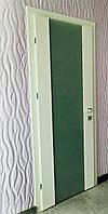 Двері Verto Елегант 1 колір Білий «Резист» зі склом сатин
