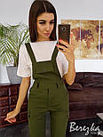 Женский стильный комплект: комбинезон и футболка (в расцветках), фото 6