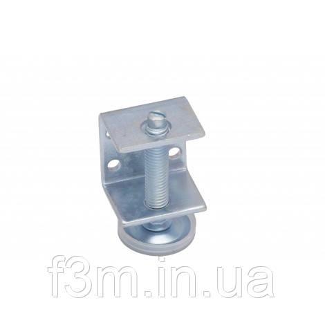 Опора - винт М10 мм, регулируемая F3M: с C-образным креплением и защитным колпачком, H= 80 мм