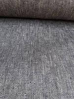 """Льняная плотная ткань """"Геометрия"""" (шир. 150 см), фото 1"""