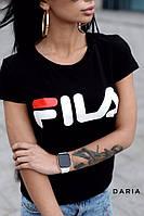 Футболка женская, стильная, цвет черный, 524-110, фото 1