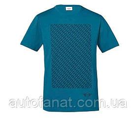 Оригинальная мужская футболка MINI Men's T-Shirt Signet, Island/Black (80142460794)