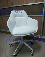 Кресло на колесиках Laredo (Ларедо) белое от Nicolas для мастера, экокожа