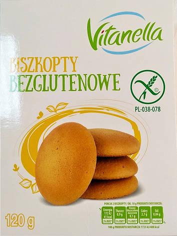 Бисквит Vitanella Biszkopty bezglutenowe 120 g, фото 2