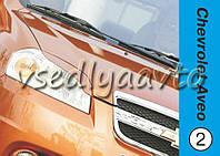 Реснички на фары Chevrolet Aveo 3 2006-