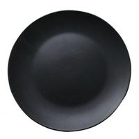 Тарелка десертная черная 20см