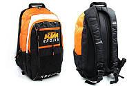 Моторюкзак с местом под питьевую систему KTM  (PL, р-р 45х25х12см, черный-оранжевый)