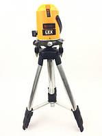 Лазерный уровень, нивелир LEX LXNL01 + штатив Луч 20м(нивелир измерительный инструмент Лекс Лазерний рівень)