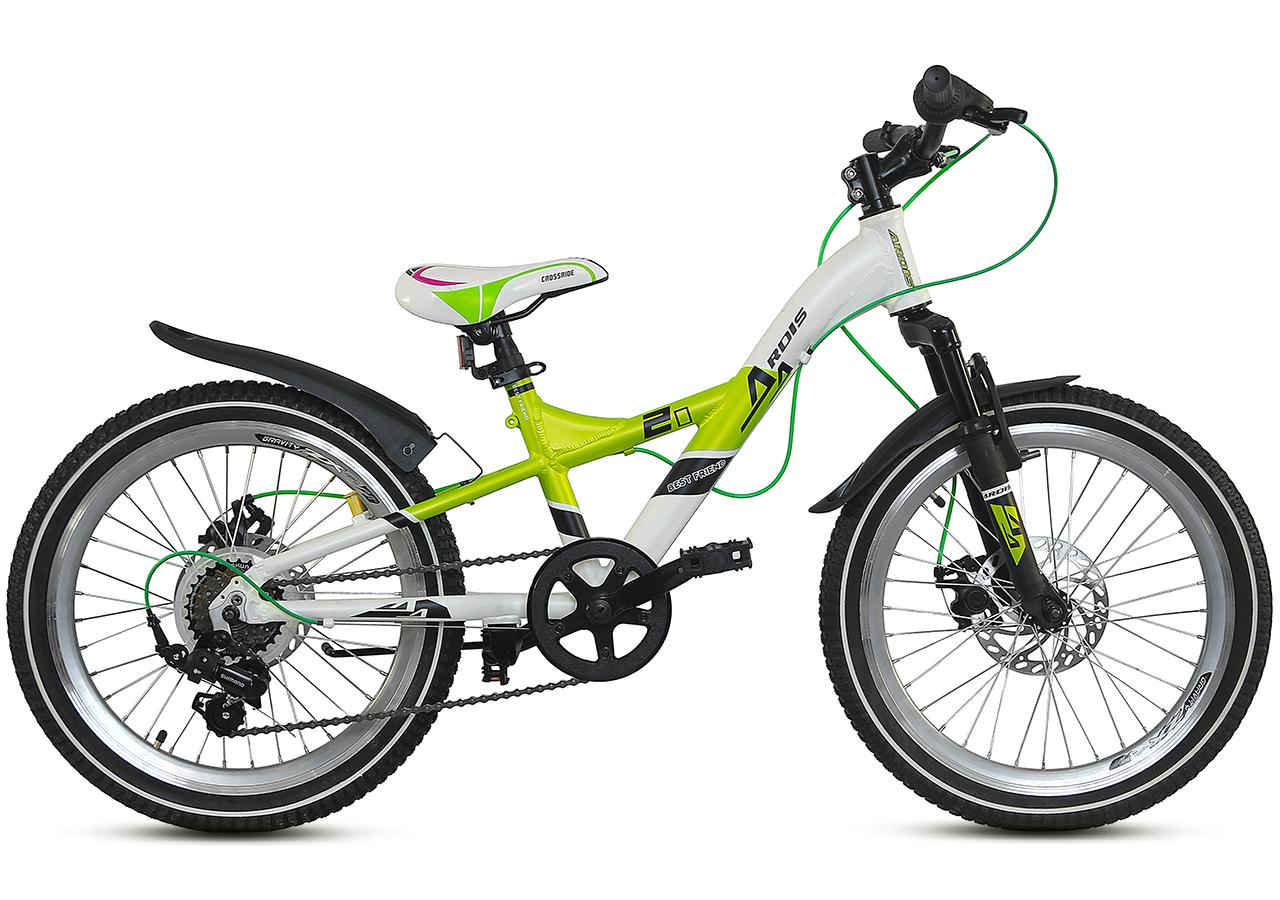 """Детский велосипед ARDIS BEST FRIEND 20"""" Белый/Салатовый"""