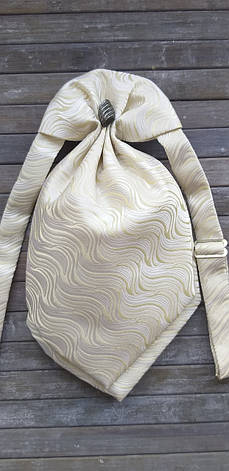 Галстук - пластрон для мальчиков Dunpillo с платком в карман кремовый арт. 13061902, фото 2