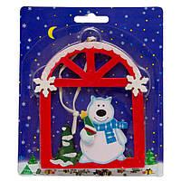 Деревянная фигурка, Медведь, окошко, в ассортименте, арт. 060375-1