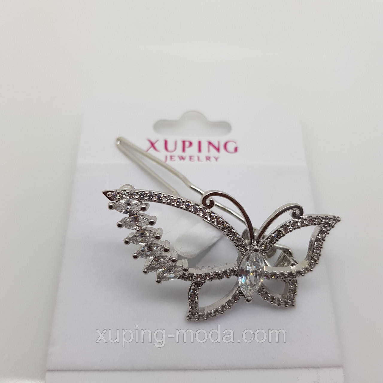 Заколка xuping, в виде бабочки, под серебро