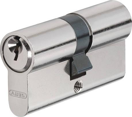 Циліндр Abus E45N 45/50, базова безпека (нікель) , фото 2