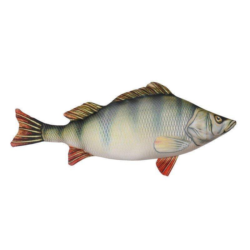 Антистрессовая подушка-игрушка «Рыба Окунь»(малый). Размер:46*23 см.