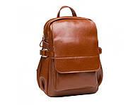 Коричневий жіночий шкіряний рюкзак Grays, фото 1
