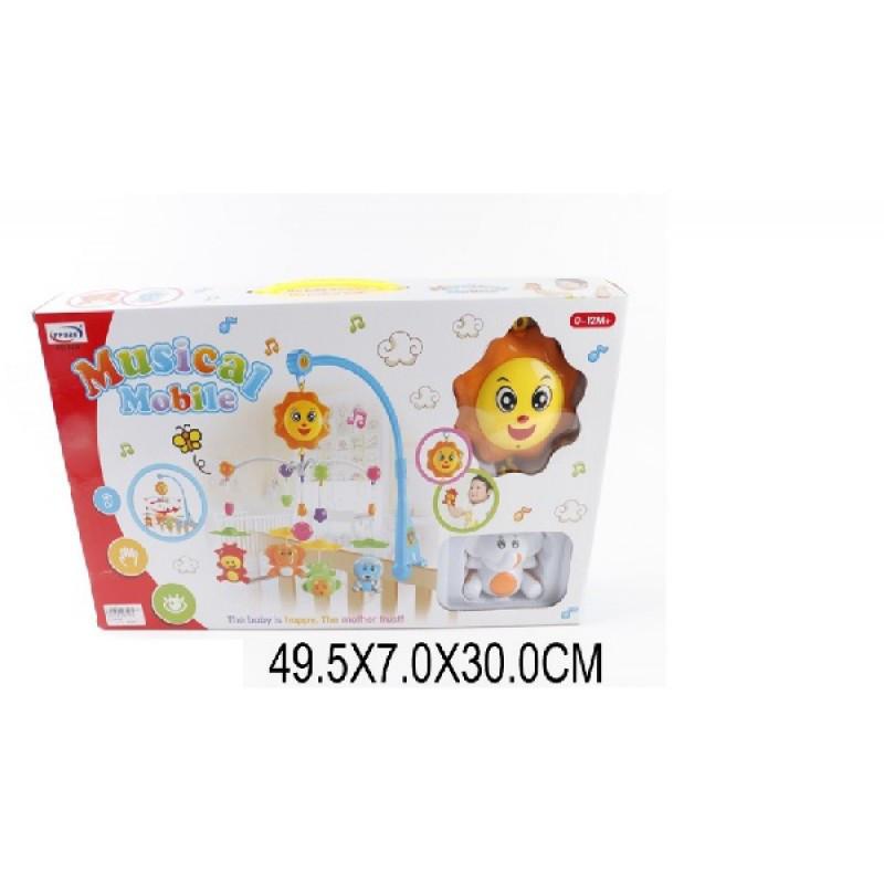 Детский Мобиль карусель на кроватку 326-52