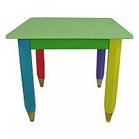 Детский Столик Карандашики 60*40 см, 60*60 см цвет столешницы-салатовый Sweet Baby