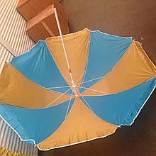Пляжный зонт с регулировкой наклона купола и металлопластиковыми спицами 1.8 м без напыления