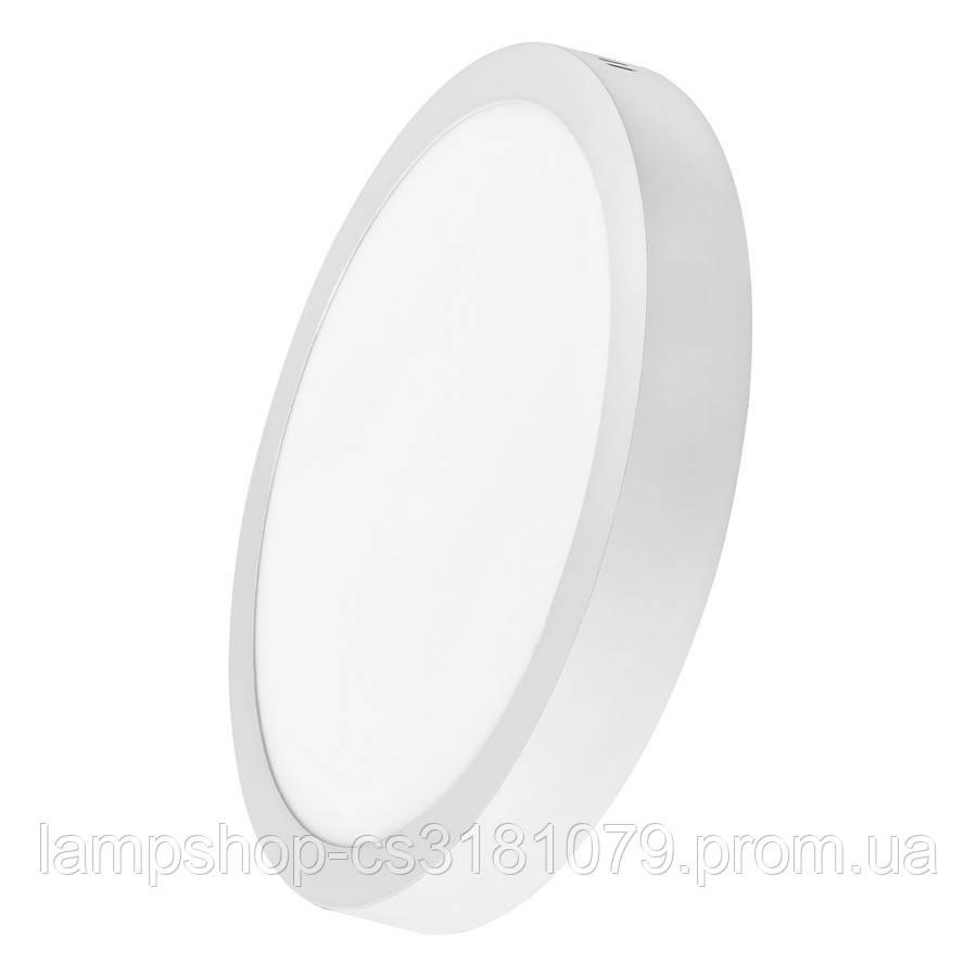 Светильник светодиодный накладной потолочный DELUX CFQ LED 10 4100К 24Вт 220В круг