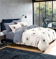 Комплект постельного белья евро ранфорс на резинке 100% хлопок. (арт.12124)