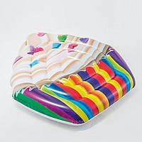 Пляжний надувний матрац - пліт Intex 58770 «Кекс»