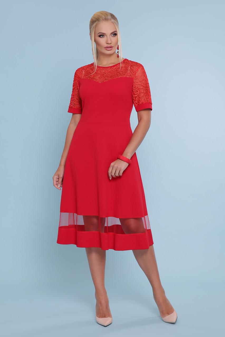 Платье Аида-Б к/р большие размеры