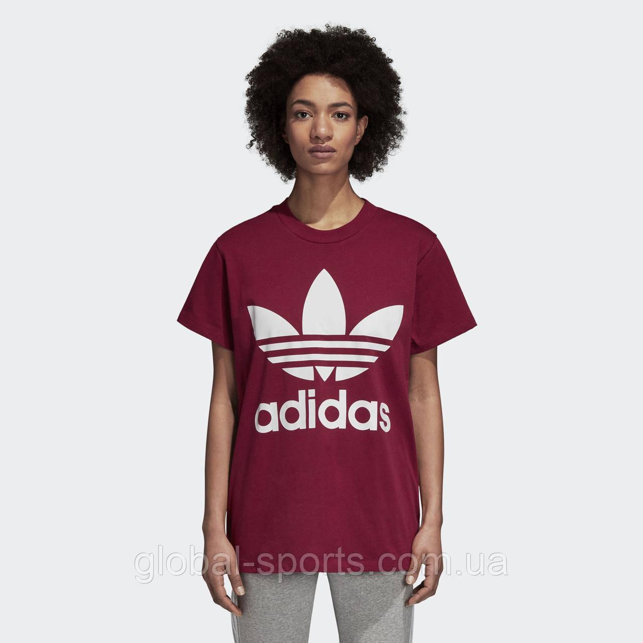 dc6e823b Женская футболка Adidas Originals Trefoil Oversize (Артикул: DH4430 ...