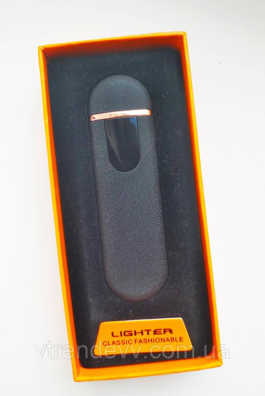 Зажигалка Lighter сенсорная электроимпульсовая,спиральная, USB Гранит