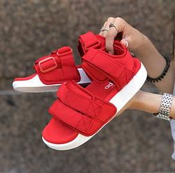 Женские сандалии Adidas Sandal летние босоножки красные. Живое фото. Топ качество. Сандалии 7 цветов