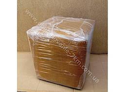 Пуфик квадрат (коричневый)-35×35×40см.