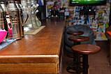 Деревянная столешница барная стойка для кофейни из массива, фото 5
